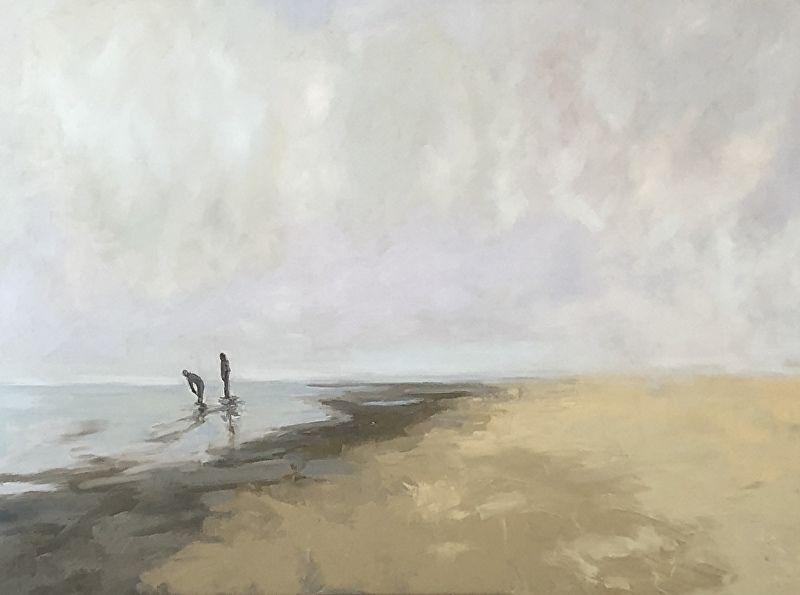 Beach Boys By Lauren Ossolinski Oil 36 X 48 Beach Oil