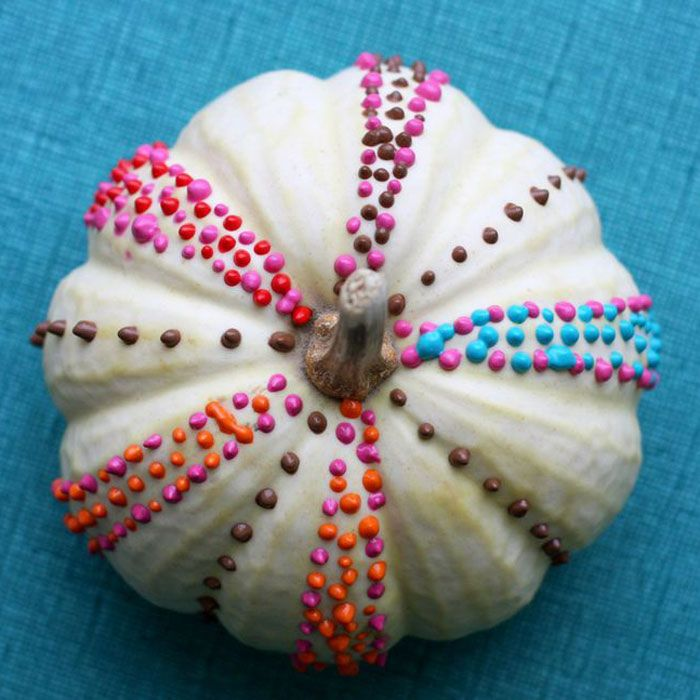 Colorful White Pumpkins