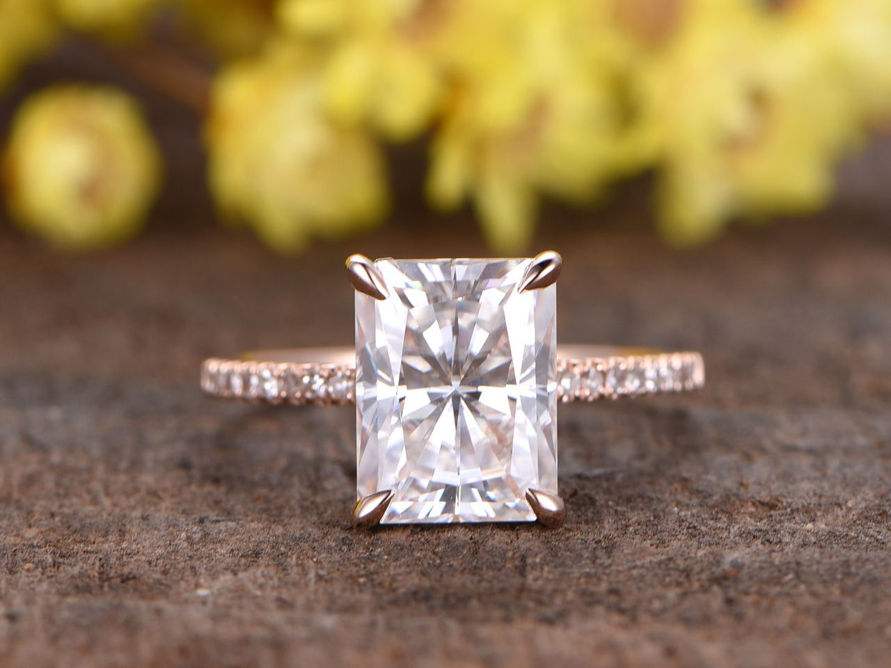 Pin On Cushion Cut Moissanite Engagement Ring