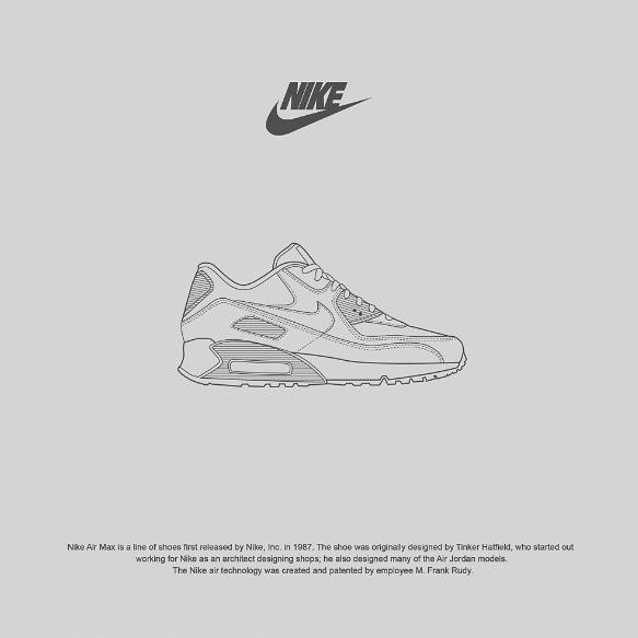 Nike Air Max @nike #illustration #lineart #vector #vectorid