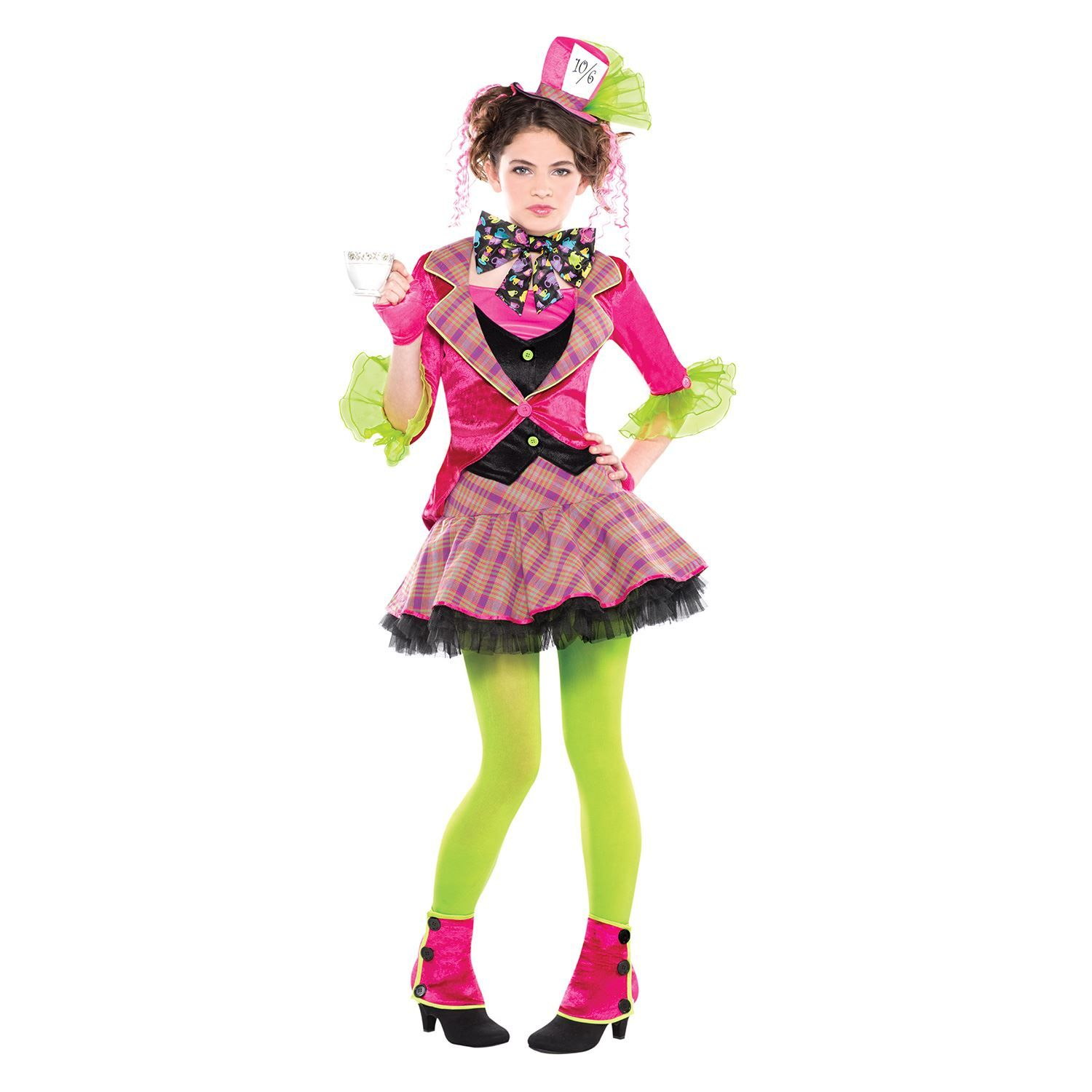 mad hatter costume halloween party outfit teen alice in wonderland girls costume