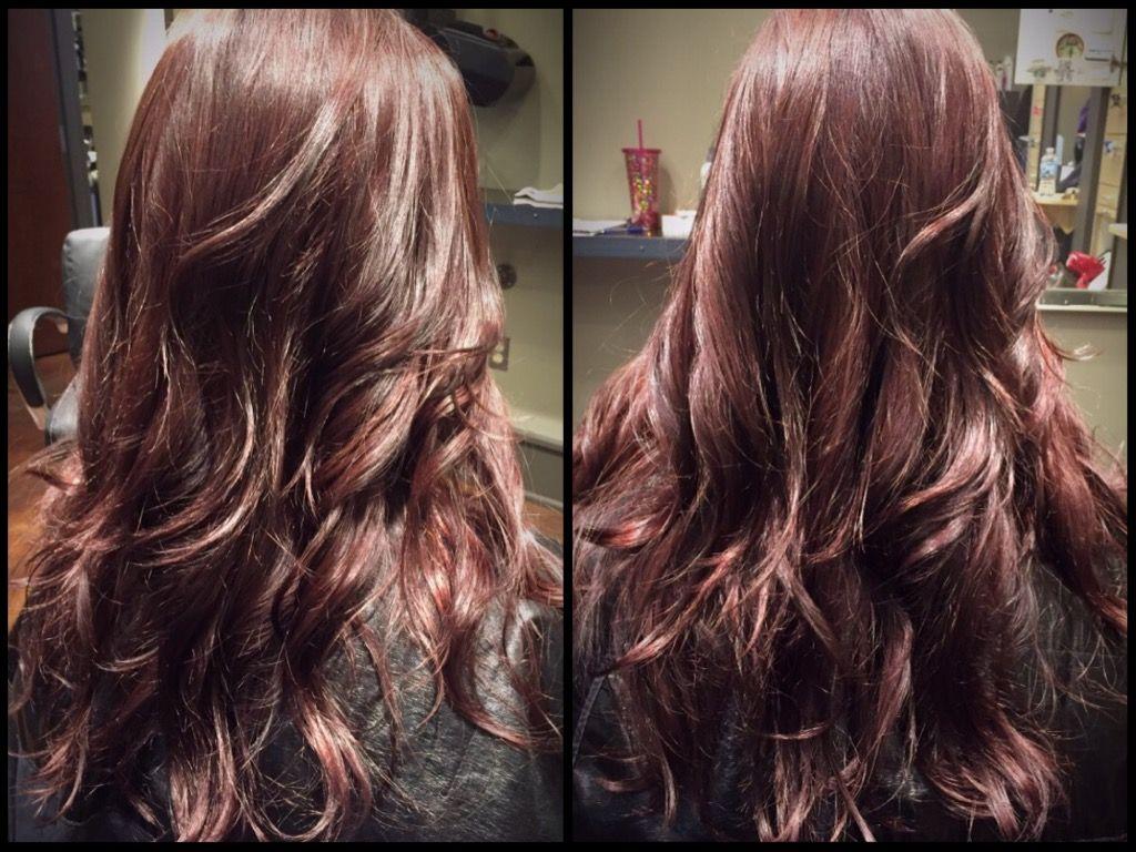 Merlot hair color - Merlot Hair Color With Beautiful Beachy Waves