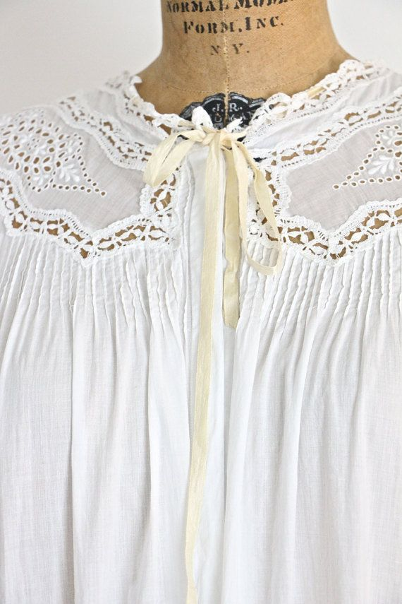 Antique Nightgown / Hospital Gown / Nursing Gown / Open Back ...