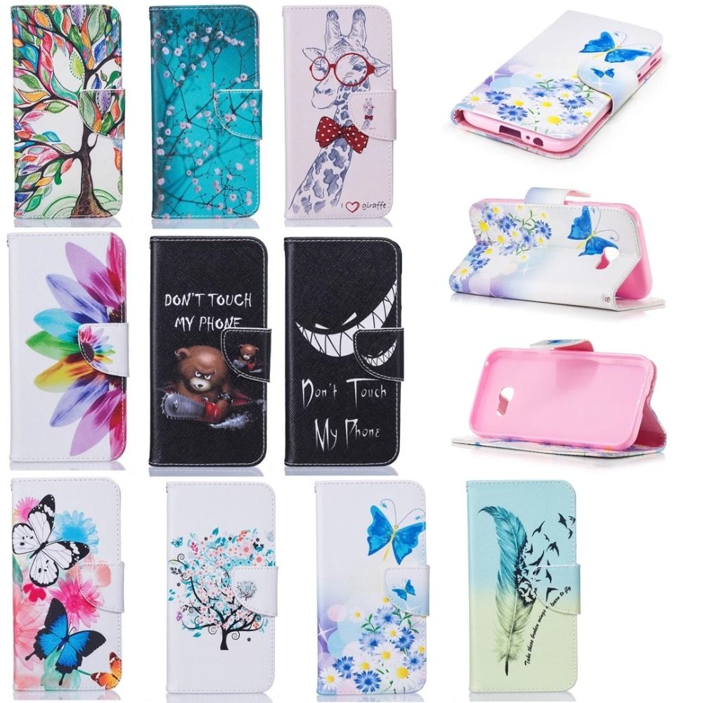for samsung galaxy a5 2017 case flip leather luxury cover samsung a5 case wallet for coque. Black Bedroom Furniture Sets. Home Design Ideas
