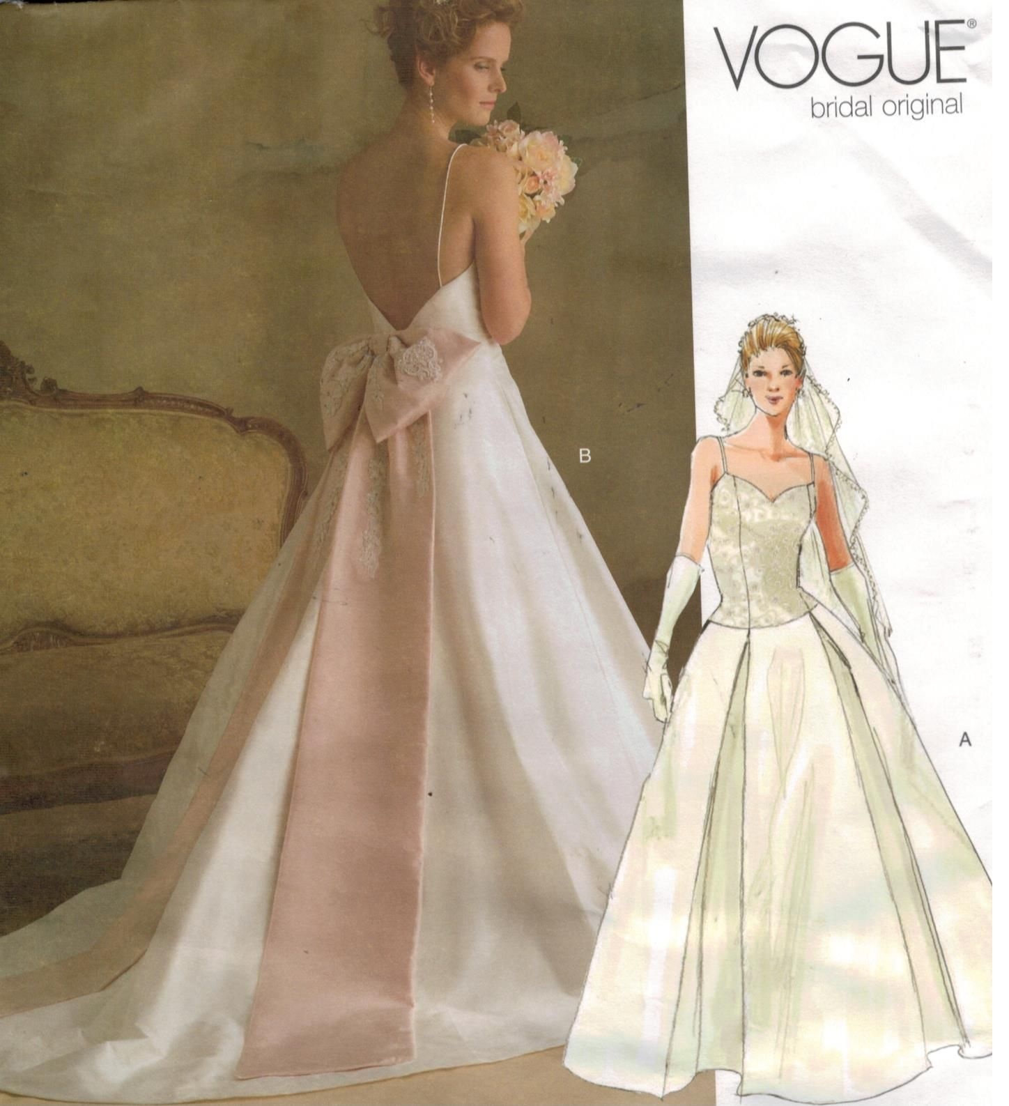 Vintage Wedding Dress Patterns To Sew Image Collections Craft Vogue Sewing