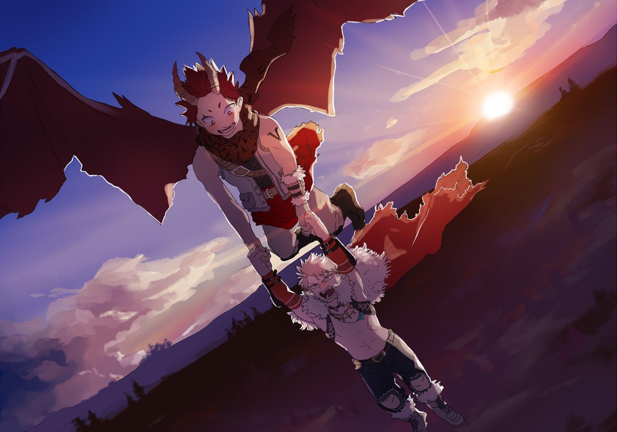 Dragon Kirishima Eijirou Bakugou Katsuki My Hero Hero My Hero Academia Manga