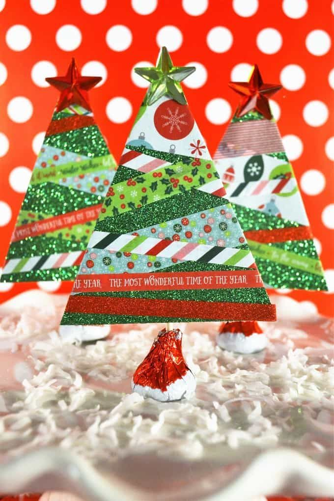 Make Paper Christmas Trees {With Washi Tape} Holiday Ideas
