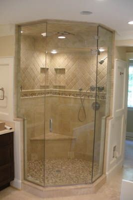 I Like This Tile Pattern Work Neo Angle Shower Shower