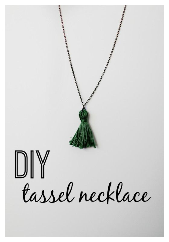 DIY tassel necklace.  Create your own tassel necklace in less than 15 minutes!  www.thedempsterlogbook.com