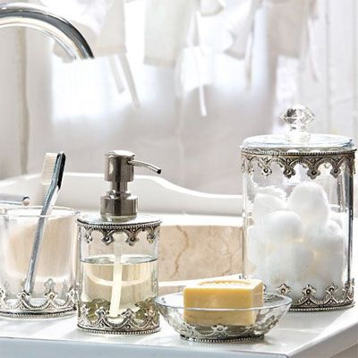 Bath Acc 79ideas Shabby Chic Bathroom Accessories Glamorous