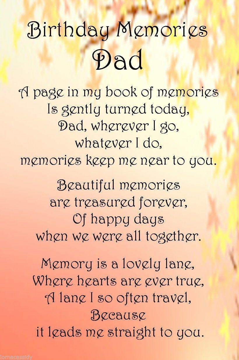 A dad birthday memories bereavement graveside memorial