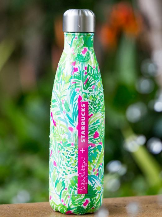 8e44a7a357 Lilly Pulitzer S'well Bottles Available at Starbucks | Starbucks... 2/15  just got mine thanks to my daughter and Starbucks Ellensburg!!!