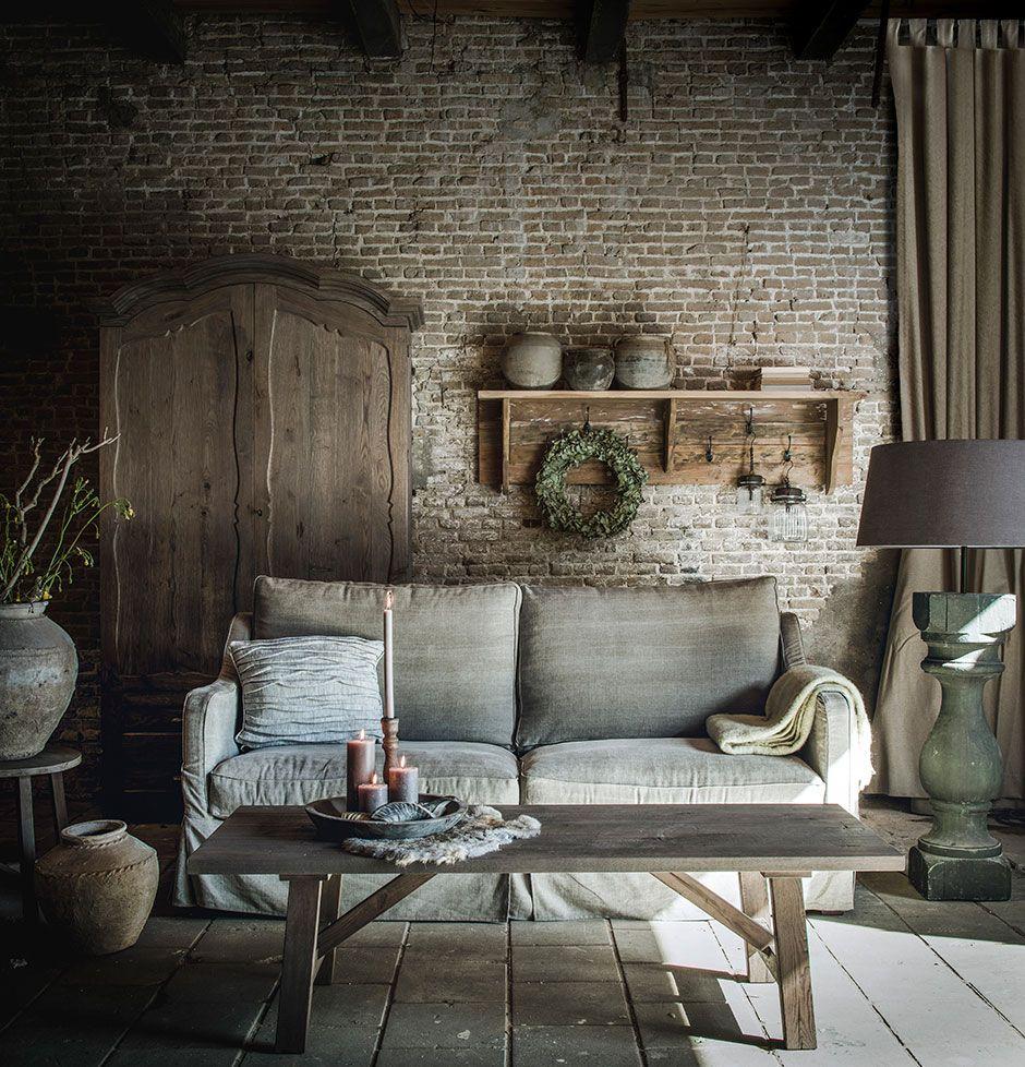 Woonkamer in de sfeervolle landelijk stijl http www for Landelijke woonkamer foto s