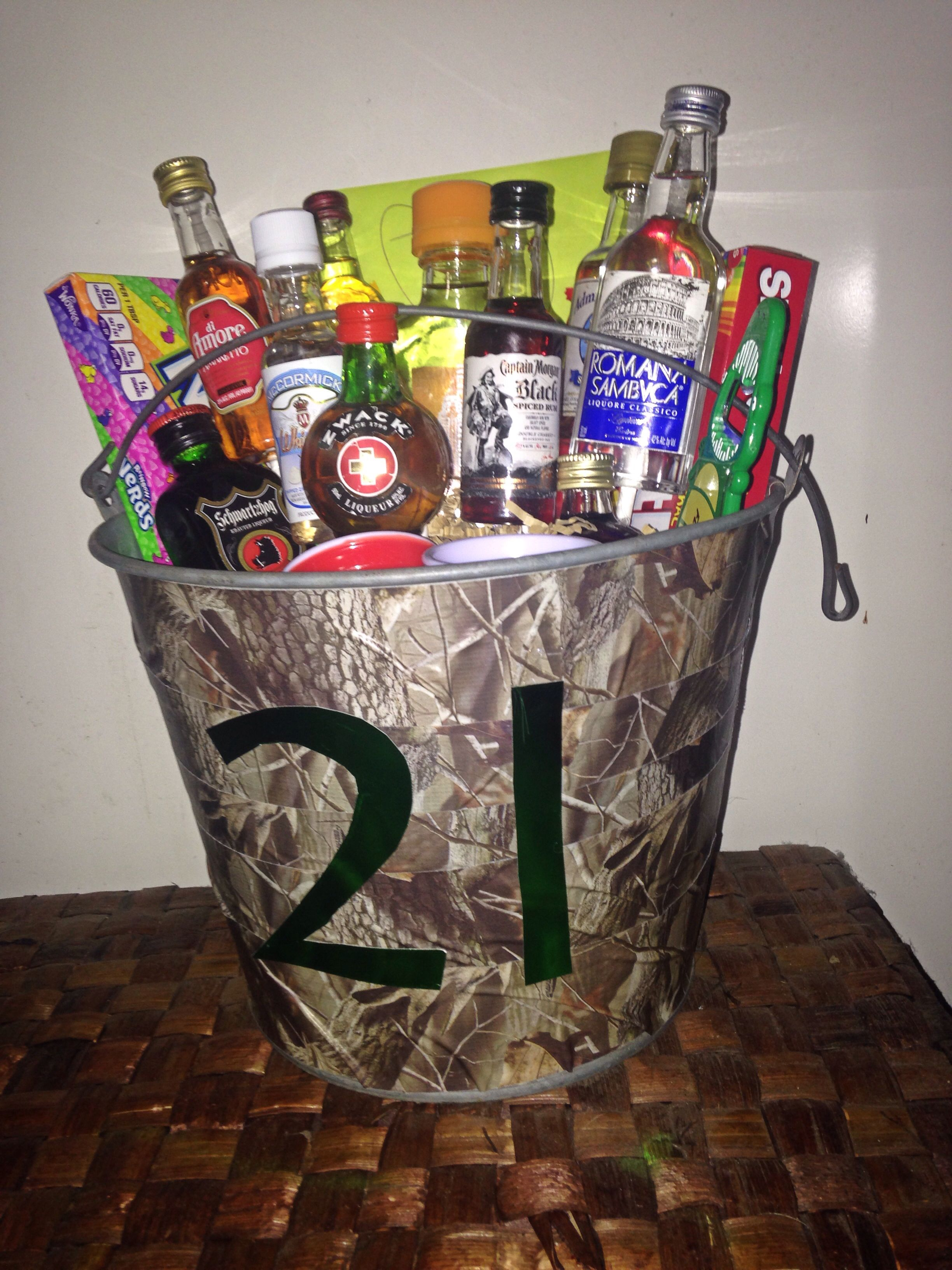 21st Birthday Gift For One Of My Guy Friends 10 Different Drinks Mini Red Solo Cup Shot Glasses Candy And Course The Card