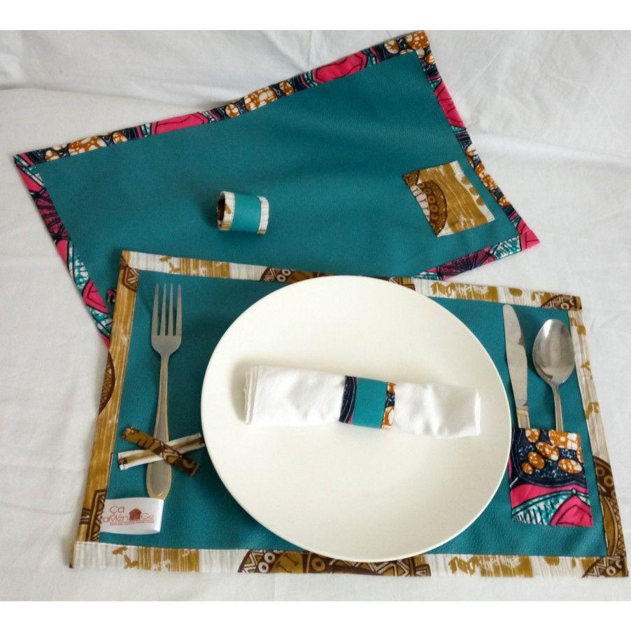 Épinglé par Ça Aménage sur table  Set de table, Simili cuir, Sets