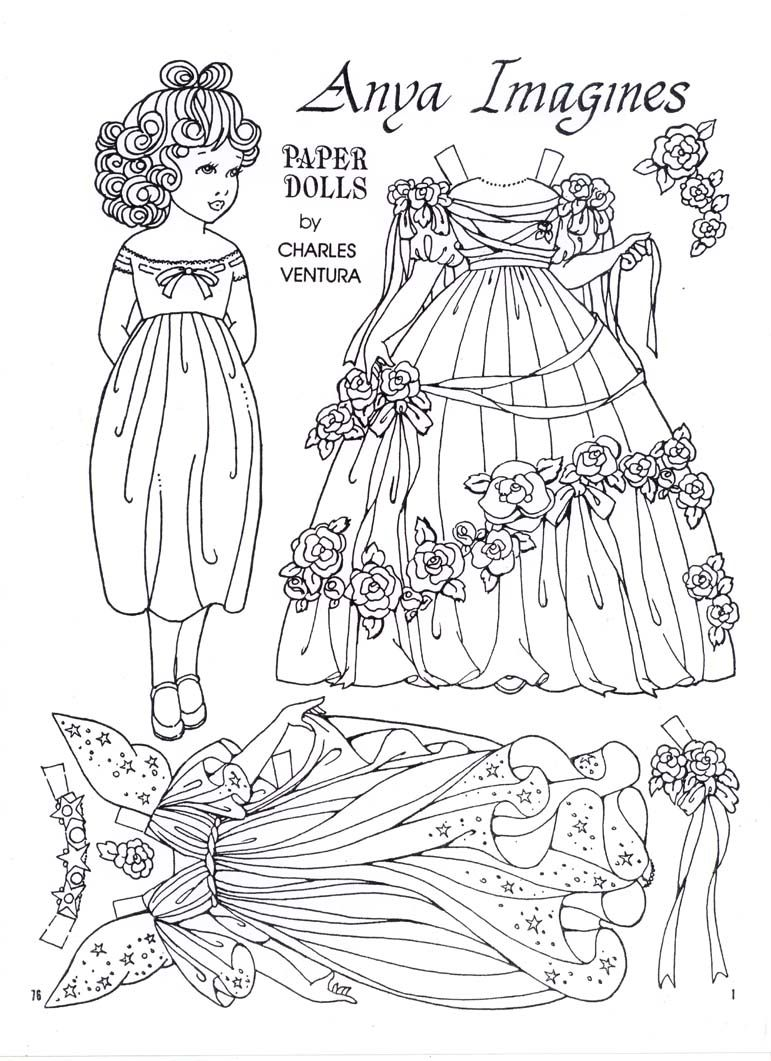 anya imagines a paper doll by charles ventura - Paper Doll Clothes Coloring Pages