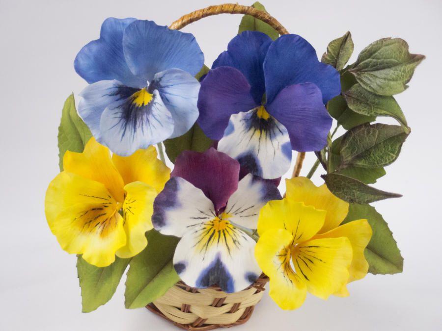 My Little Sugar Pansy By Iliana Petrova Pansies Sugar Flowers Botanical Art