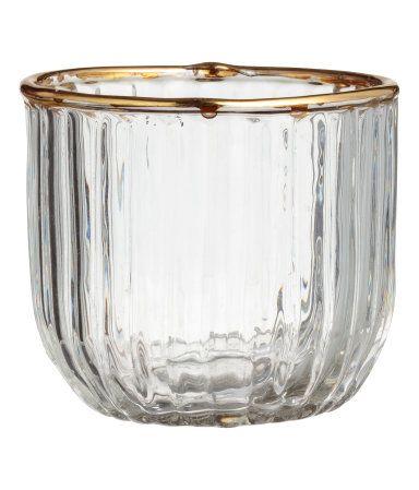 baa042296f Textured Tea Light Holder | Clear glass | H&M HOME | H&M US ...