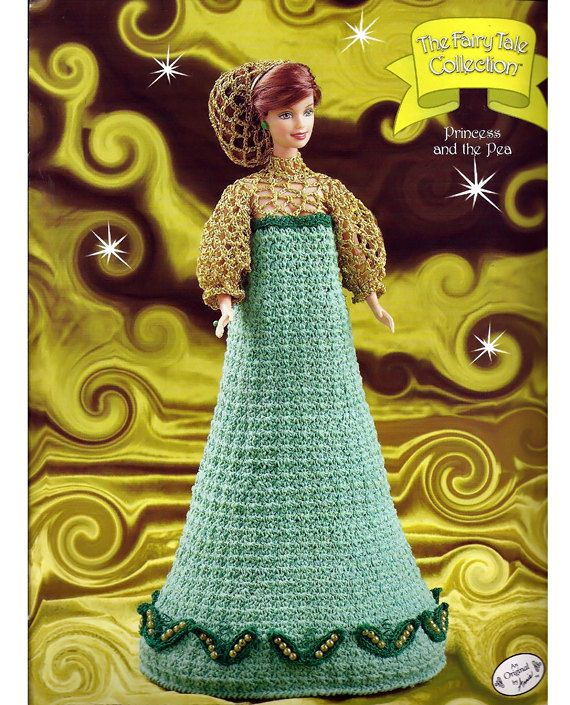 The Fairy Tale Collection Princess and The Pea Fashion Doll Crochet ...
