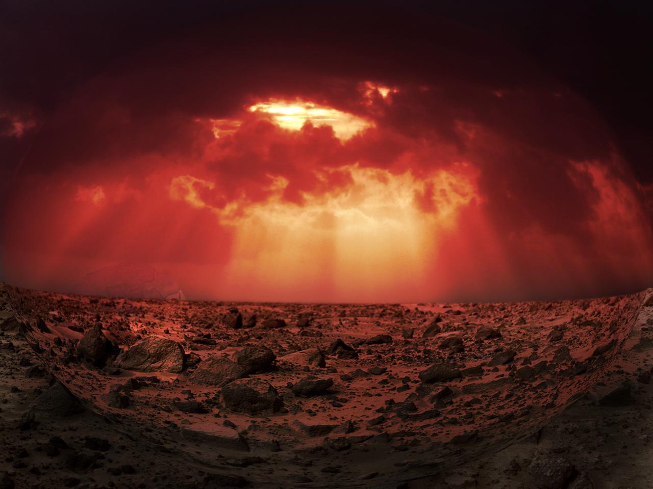 Sunset on mars photo mars sunset by drmctchr - Mars sunset wallpaper ...
