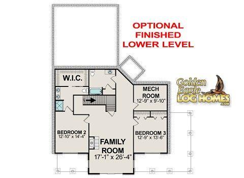 Golden Eagle Log and Timber Homes Plans & Pricing Plan Details Waterside 1606AR
