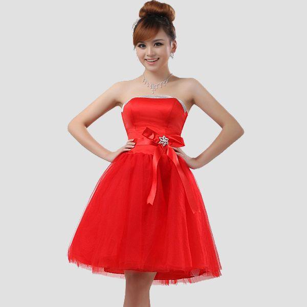Red Short Bridesmaid Dresses