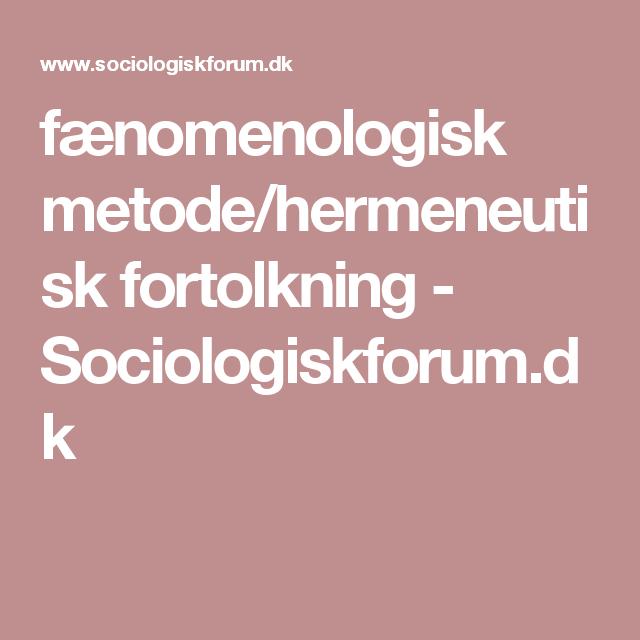 Hermeneutisk metode