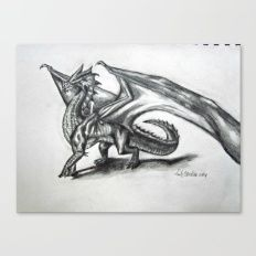 A Dragon For the Heck of It Canvas Print