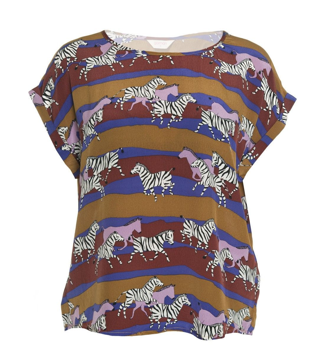 Emily the Zebra top by Gorman. Gorgeous box pleat on the back.