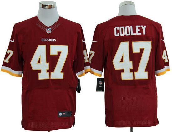 Nike Redskins #47 Chris Cooley Red Team Color Mens NFL Elite Jersey