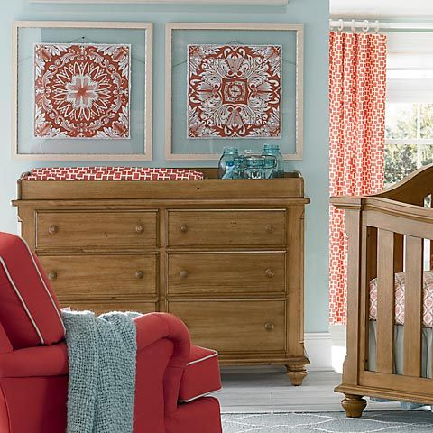 Bassettbaby Benbrooke Double Dresser Changing Table Dresser Baby Boy Rooms Home Decor