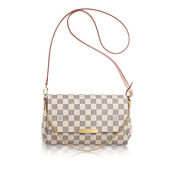 21621b61fa5 Favorite MM Louis Vuitton Damier Azur Canvas Handbag