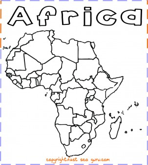 Printable Africa Map Coloring Page Printable Coloring Pages For Kids Africa Map Free Kids Coloring Pages Coloring Pages