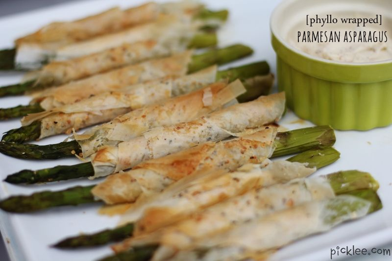 Phyllo Wrapped Asparagus Recipes | Phyllo Wrapped Parmesan Asparagus {recipe} | Picklee