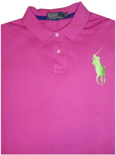 1193ae4855b Men's Polo By Ralph Lauren Short Sleeve Polo Shirt Mauve with Big Green  Pony Size XXL
