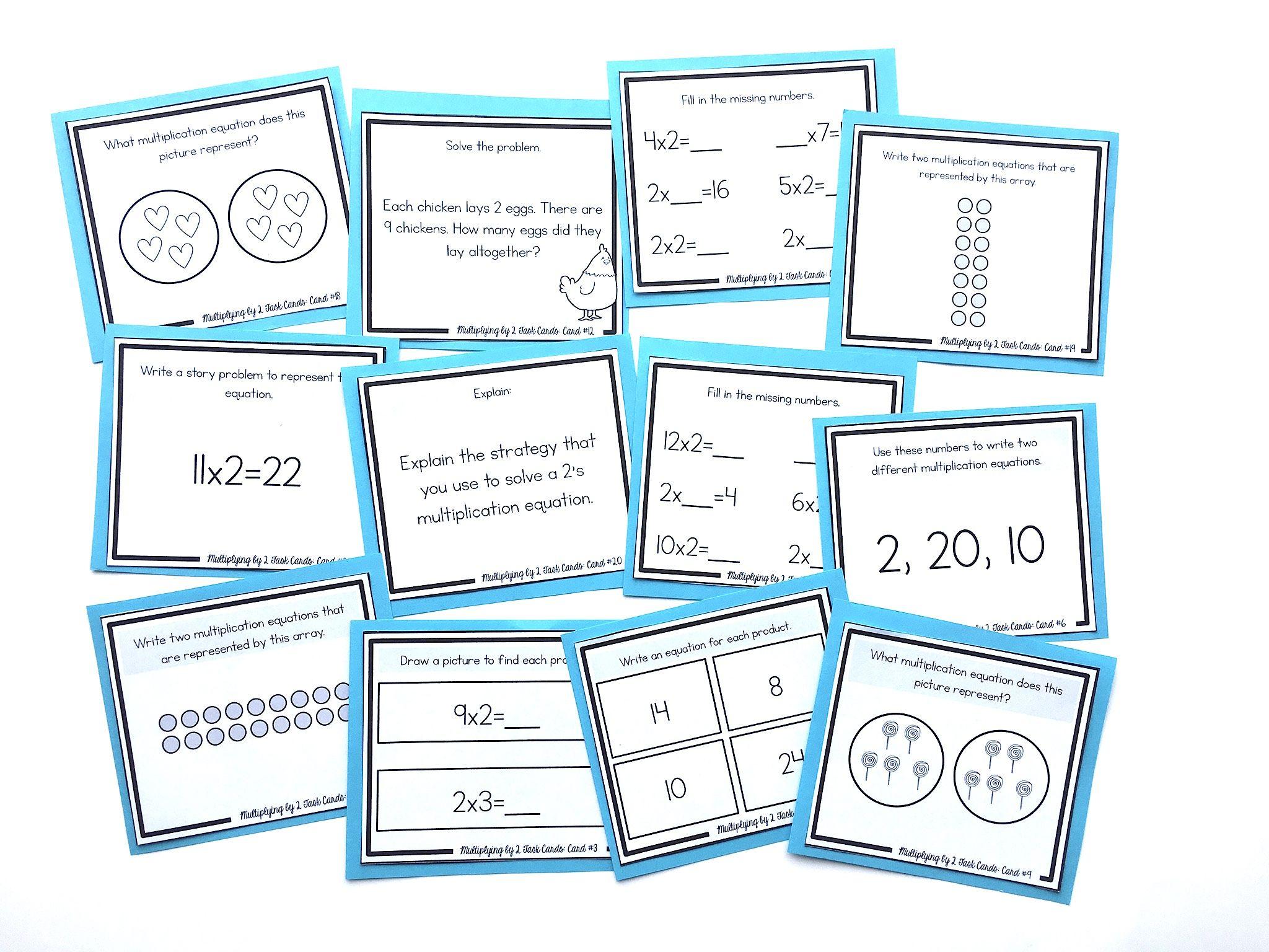 Free Set Of Multiplication Task Cards