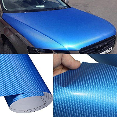 4D Gloss Carbon Fiber Vinyl Wrap Decal Sticker Sheet DIY Bubble Free Air Release