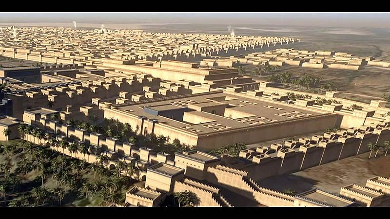 Reconstruction of the ancient city of Babylon was created ...