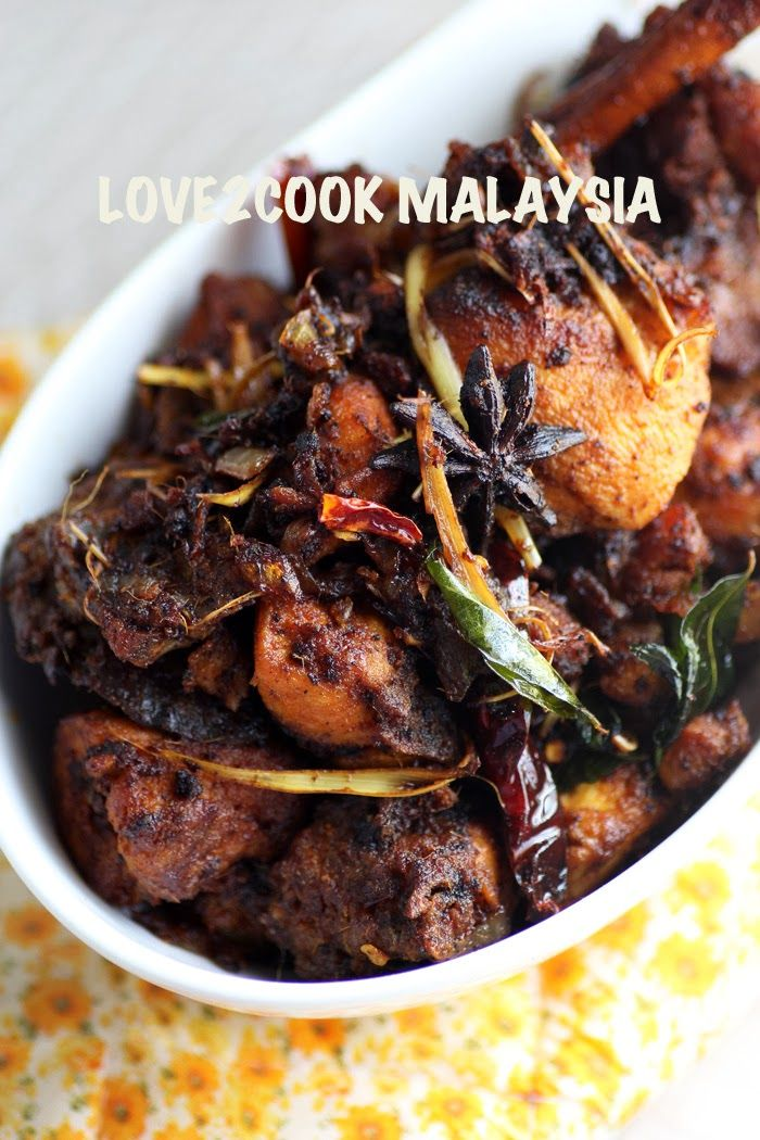 love2cook malaysia spicy chicken varuval with shredded love2cook malaysia spicy chicken varuval with shredded lemongrass indonesian recipesindian food forumfinder Images