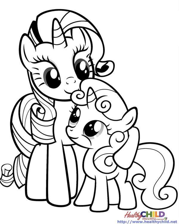 Imgs For Gt My Little Pony Coloring Pages Rarity My My Little