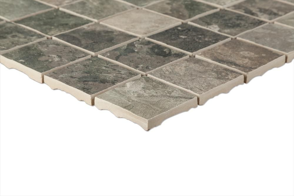 BuildDirect – Porcelain Mosaic - Slate Series – Gris - Profile View