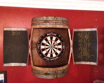 Wine Barrel Dartboard Cabinet | Things to make | Pinterest | Dart ...