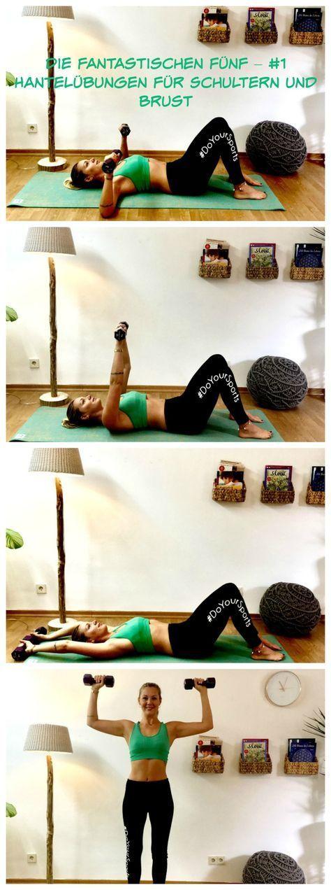 Die fantastischen Fünf - # 1 Hantelübungen für Schultern und Brust