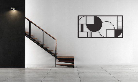 Framed Metal Art, Metal Home Decor, Abstract Wall Decor, Interior