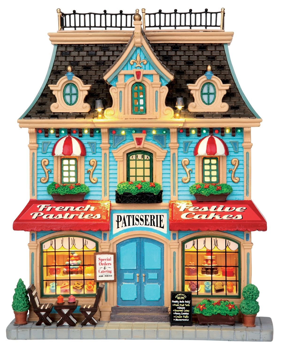 New for 2015 Lemax Caddington Facade - French Pastry Shop ... (1196 x 1480 Pixel)