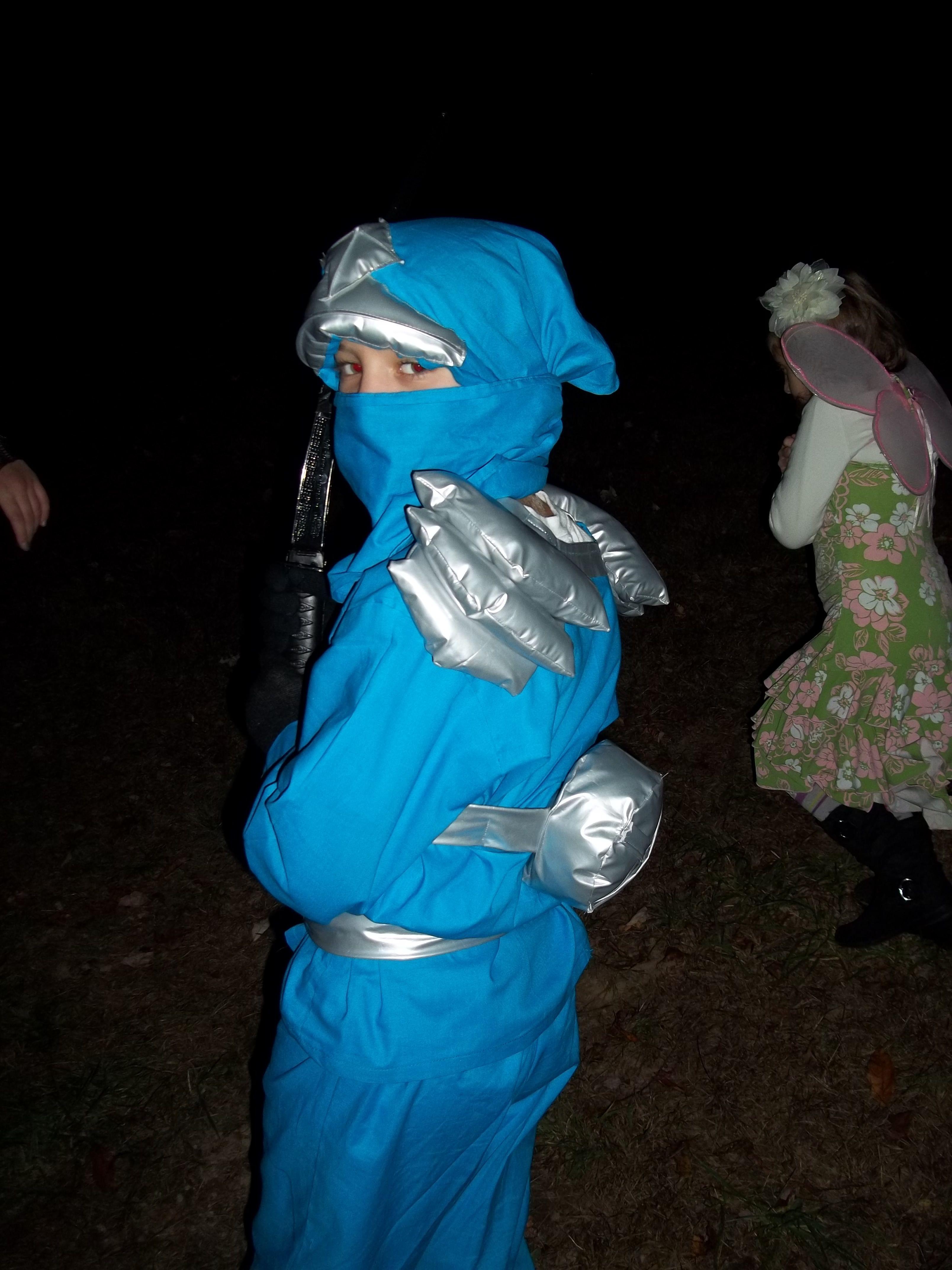 Jay Lego Ninjago Halloween Costume Blue Ninja. View from the back. & Jay Lego Ninjago Halloween Costume Blue Ninja. View from the back ...
