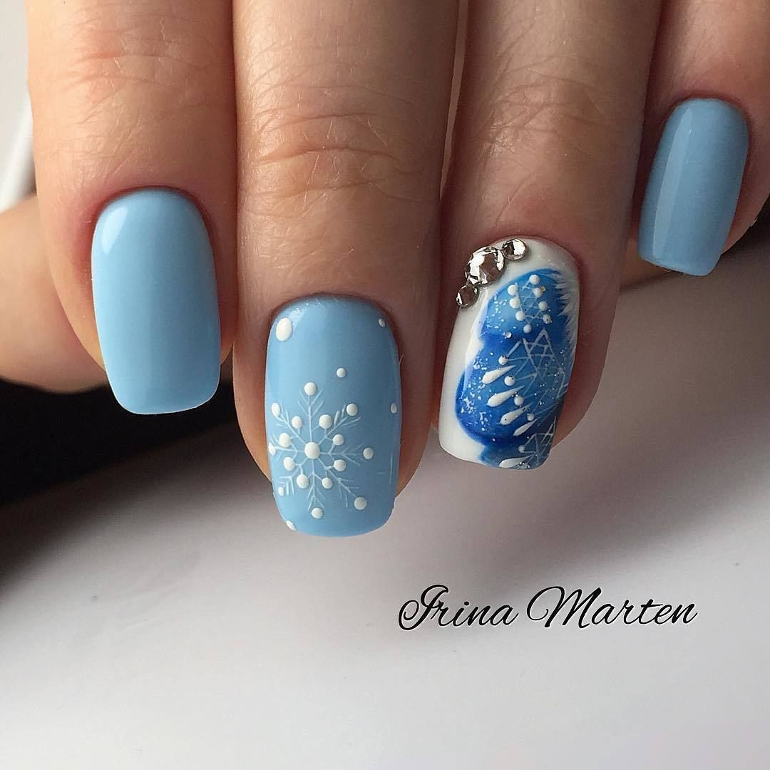 Nail Art #3907 - Best Nail Art Designs Gallery | Winter nails, Nail ...