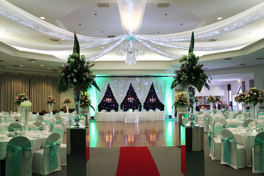 Soft Mint Green Themed Wedding Reception Decor With