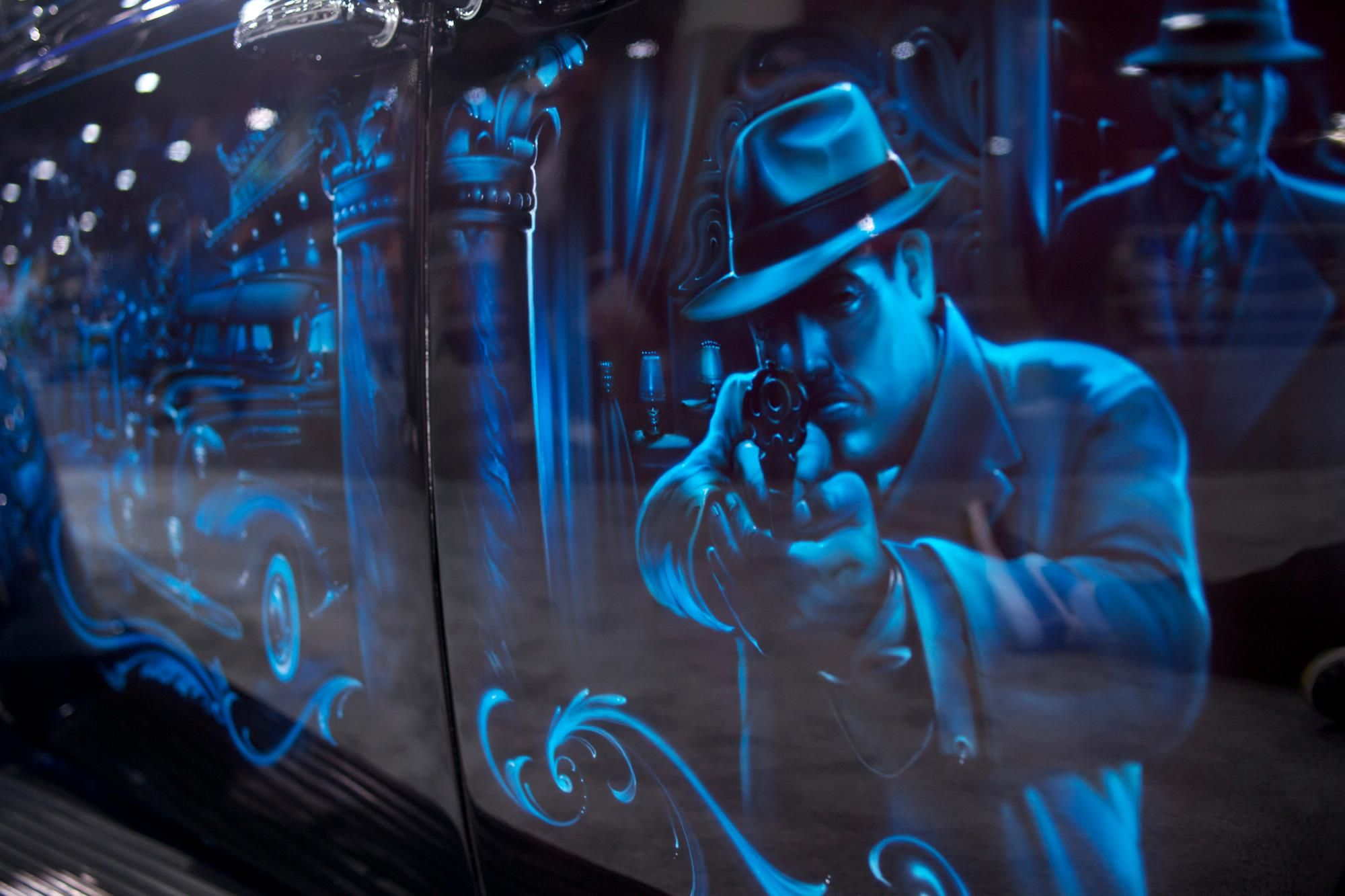 Los Angeles Car Show Gangster Squad Opens In Theaters January