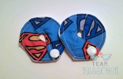 Super Tubie, Super Hero G-Tube Pads, Custom Made Feeding Tube Accessories by Team Russcher www.TeamRusscher.com